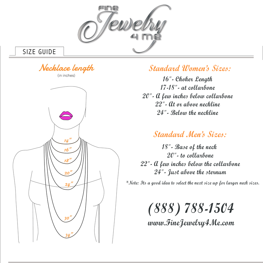 Jewelry Size Guide Fine Jewelry 4 Me