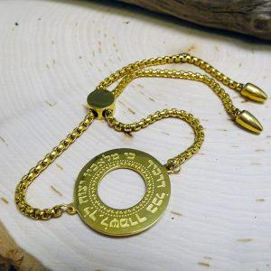 Big gold blessings pendant