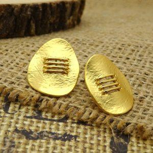 112-01-0129 - Matte Gold Earrings