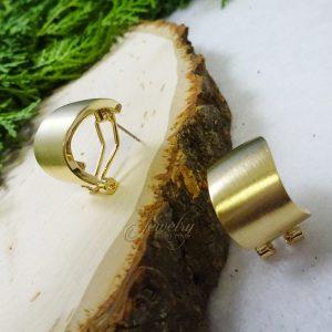 Gold Wave Small Hoop Earrings