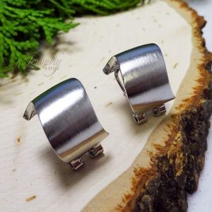 Silver Wave Small Hoop Earrings